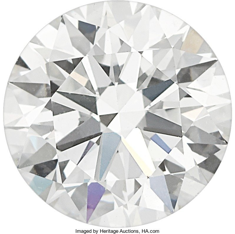 55159: Unmounted Diamond  The round brilliant-cut diamo
