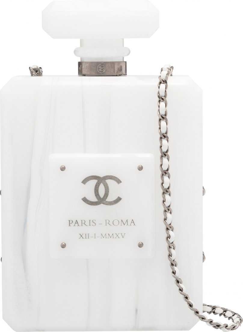 58013: Chanel Limited Edition Paris-Roma White Marbled
