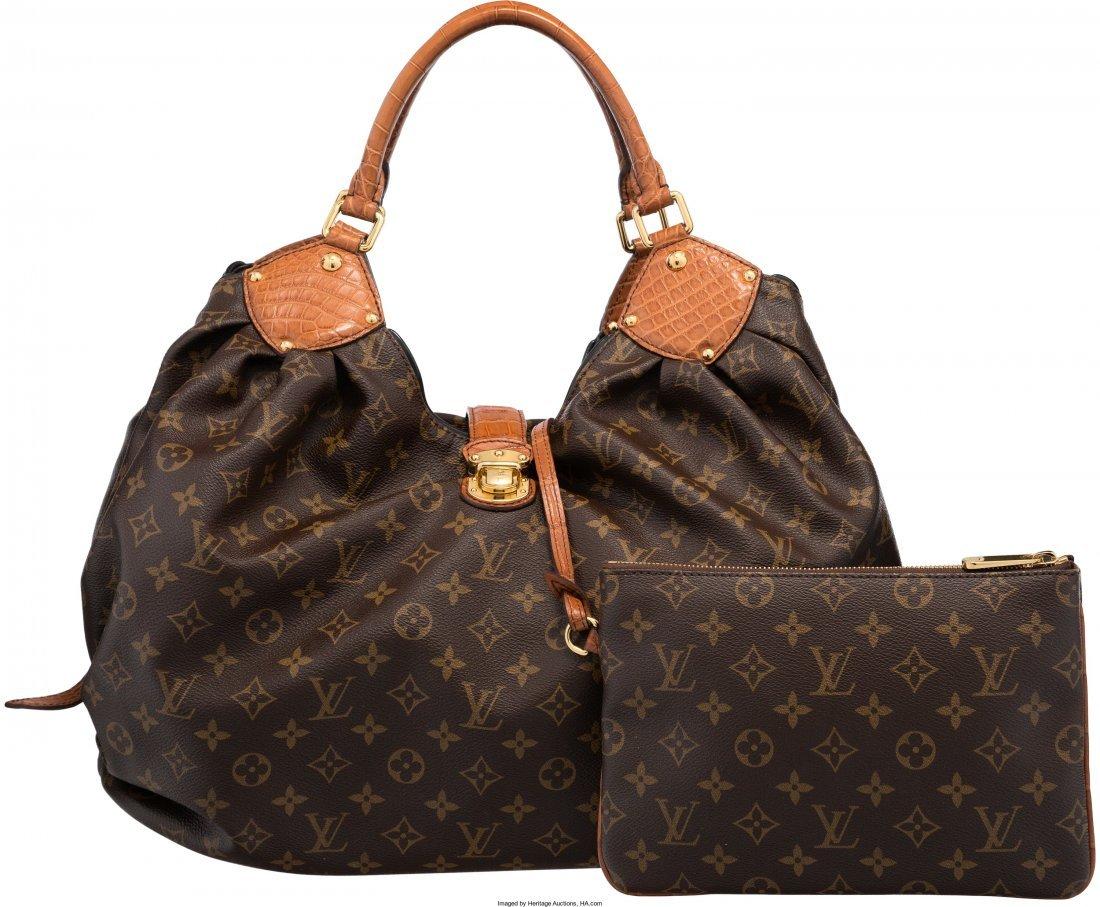 58015: Louis Vuitton Limited Edition Matte Brown Crocod