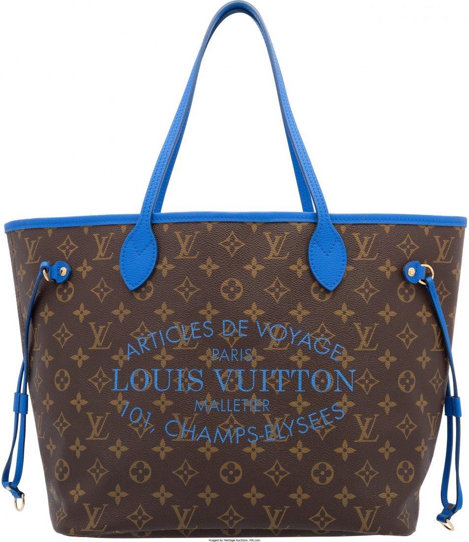 58016: Louis Vuitton Classic Monogram Canvas & Blue Vea