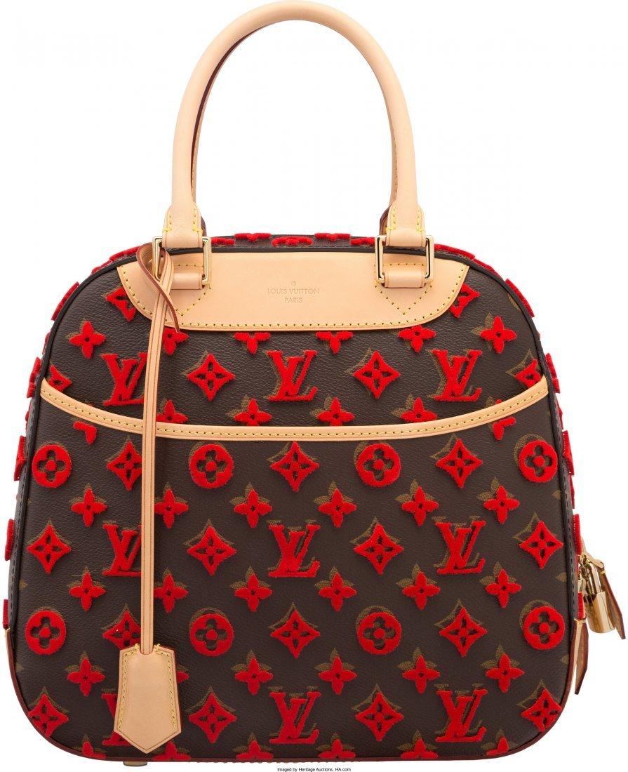 58017: Louis Vuitton Classic Monogram Canvas & Red Tuff