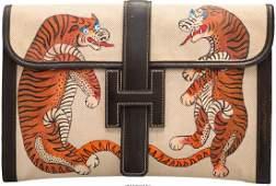 58088: Hermes Customized Ebene Calf Box Leather & Toile