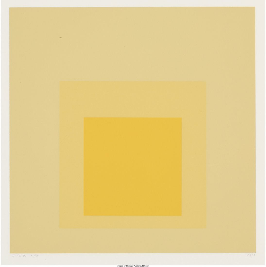 65001: Josef Albers (1888-1976) I-S d, from Homage to t