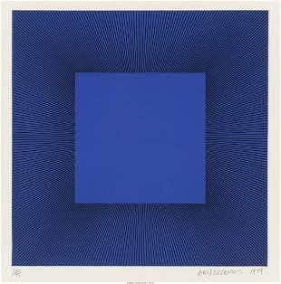 Richard Anuszkiewicz (b. 1930) Blue with Black,