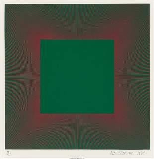 Richard Anuszkiewicz (b. 1930) Green with Red, f