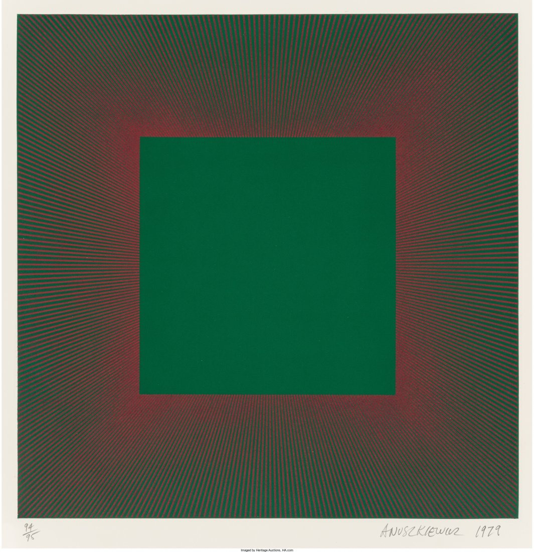 65003: Richard Anuszkiewicz (b. 1930) Green with Red, f