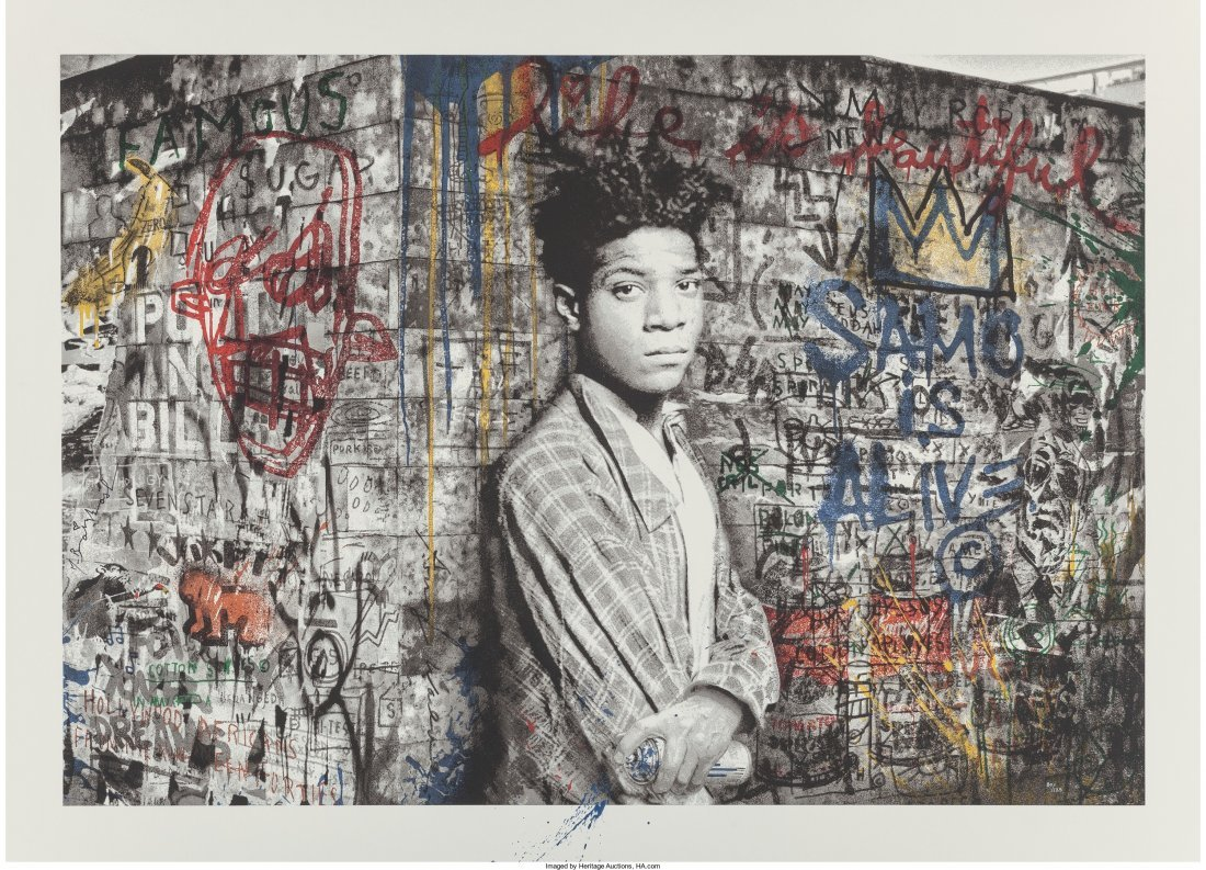 65009: Mr. Brainwash (b. 1966) Samo is alive (Basquiat)