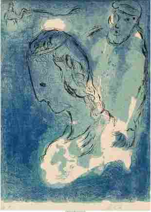 Marc Chagall (1887-1985) Abraham and Sarah, from