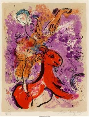 Marc Chagall (1887-1985) L'écuyère au cheval r