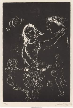Marc Chagall (1887-1985) Blanc sur noir, 1972 Li