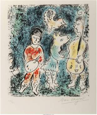 Marc Chagall (1887-1985) Les artistes, 1977 Lith