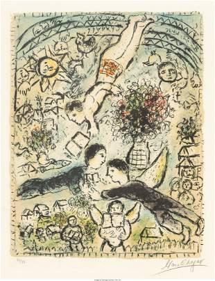 Marc Chagall (1887-1985) Le ciel, 1984 Lithograp