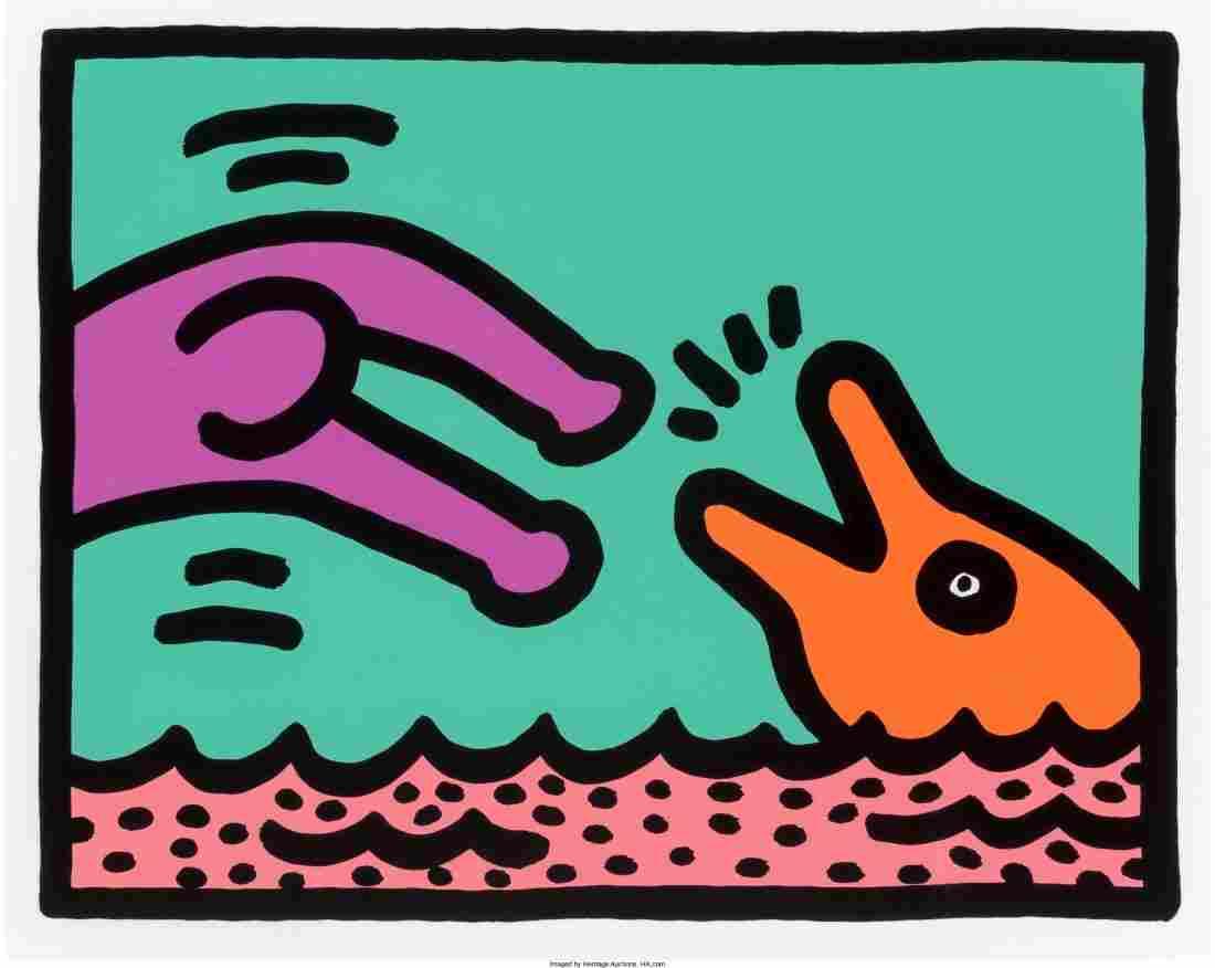 65047: Keith Haring (1958-1990) Pop Shop Quad V (A-D),
