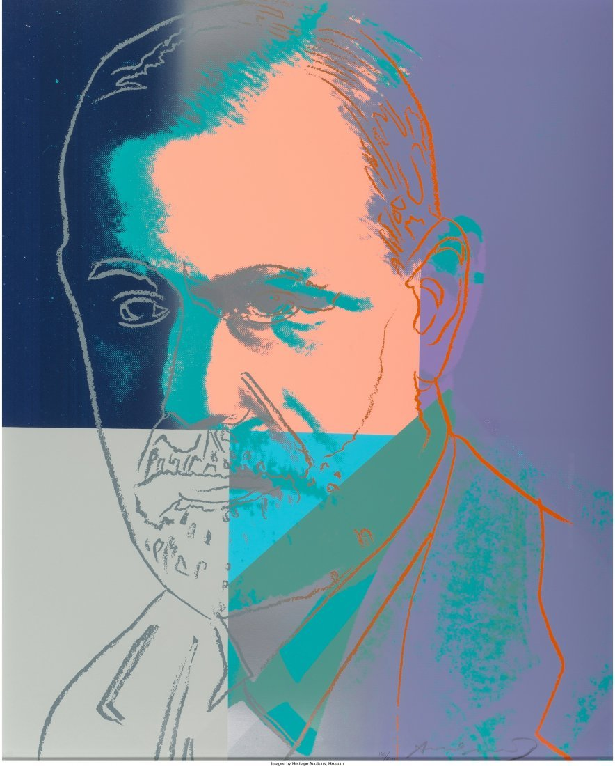 65179: Andy Warhol (1928-1987) Sigmund Freud, from Ten
