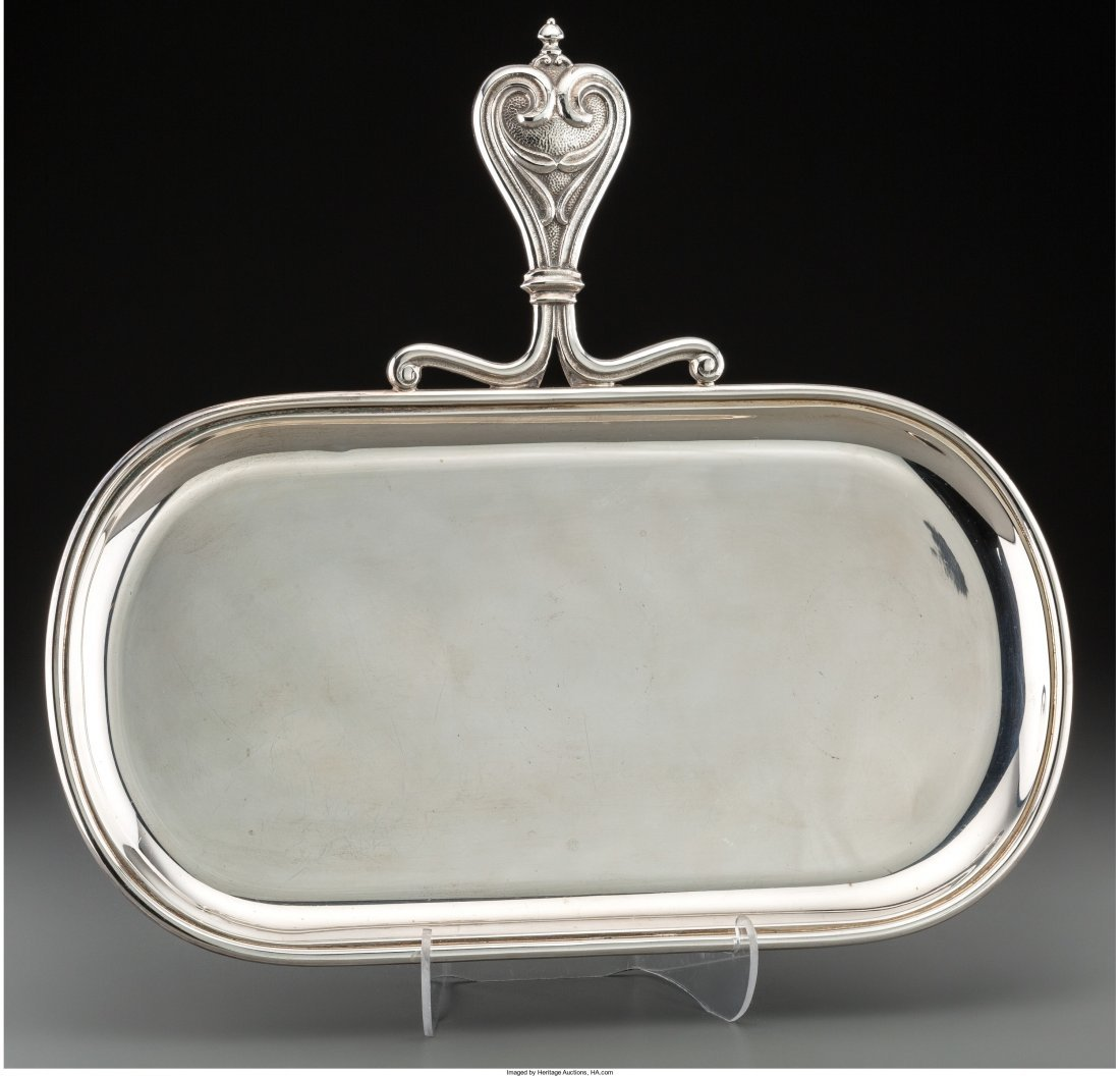 74004: A Buccellati Silver Butler's Tray, Milan, Italy,