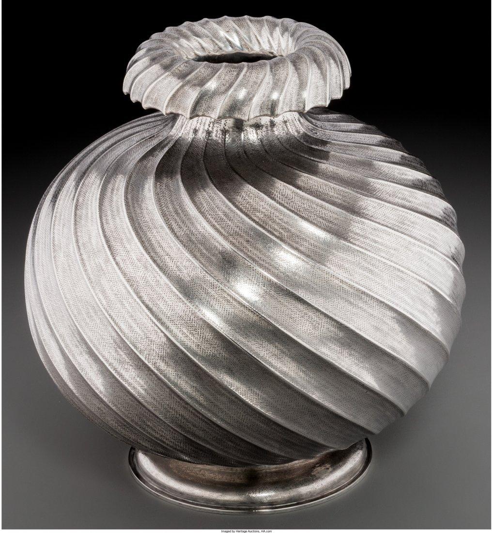 74007: A Mario Buccellati Silver Vase, Milan, Italy, 20