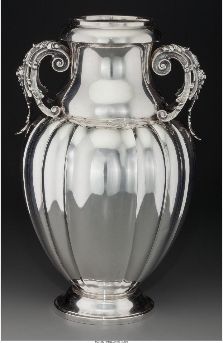74008: A Large Buccellati Silver Handled Vase, Milan, I
