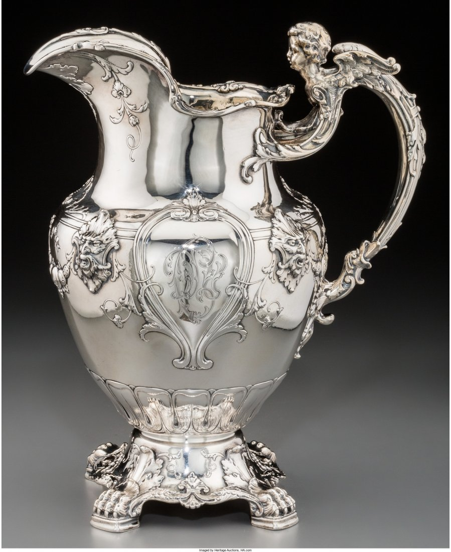 74125: A Gorham Silver Figural Footed Pitcher, Providen