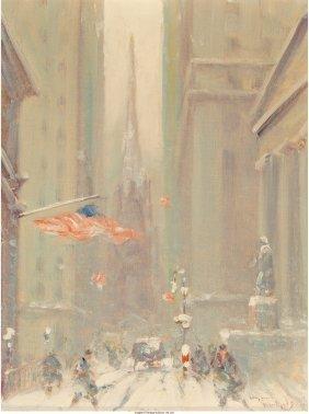68081: Johann Berthelsen (American, 1883-1972) Wall Str