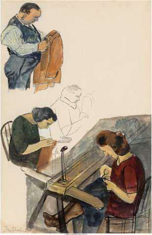 68091: Ben Shahn (American, 1898-1969) Sweat Shop, 1936