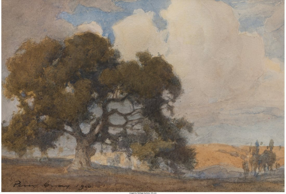 68021: Percy Gray (American, 1869-1952) Oak Tree, 1910