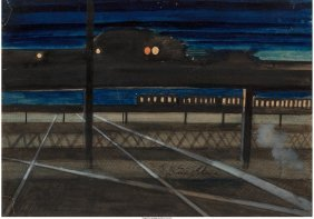 68110: Joseph Stella (American, 1877-1946) Elevated Rai