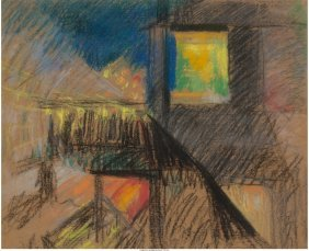 68113: Joseph Stella (American, 1877-1946) Third Avenue