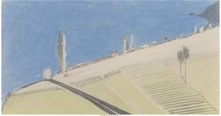 77043: Wayne Thiebaud (b. 1920) Untitled - Landscape, 1