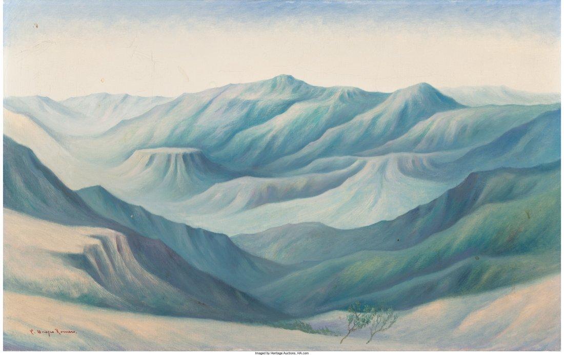 77013: Carlos Orozco Romero (1898-1984) Paisaje Oil on