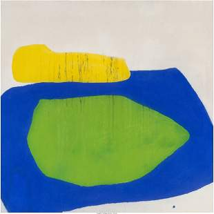 77029: Friedel Dzubas (1915-1994) Ozona, 1964 Oil on ca