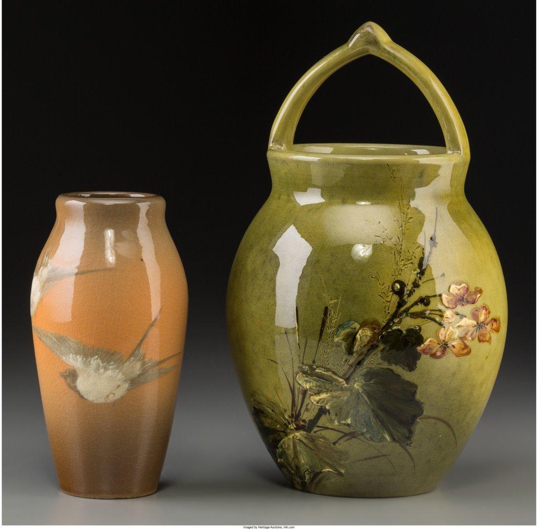 63007: Two Rookwood Standard Glazed Ceramic Vases Decor