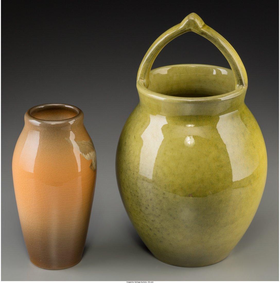 63007: Two Rookwood Standard Glazed Ceramic Vases Decor - 2