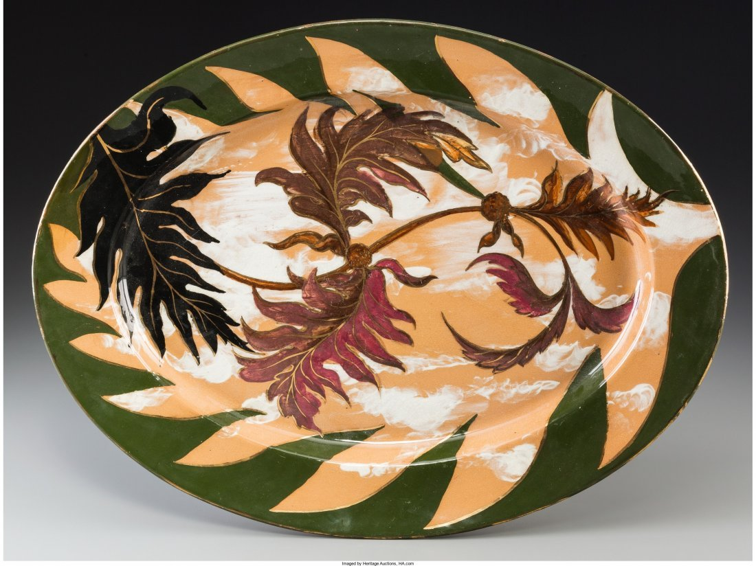 63011: Rookwood Ceramic Platter decorated by Albert Rob