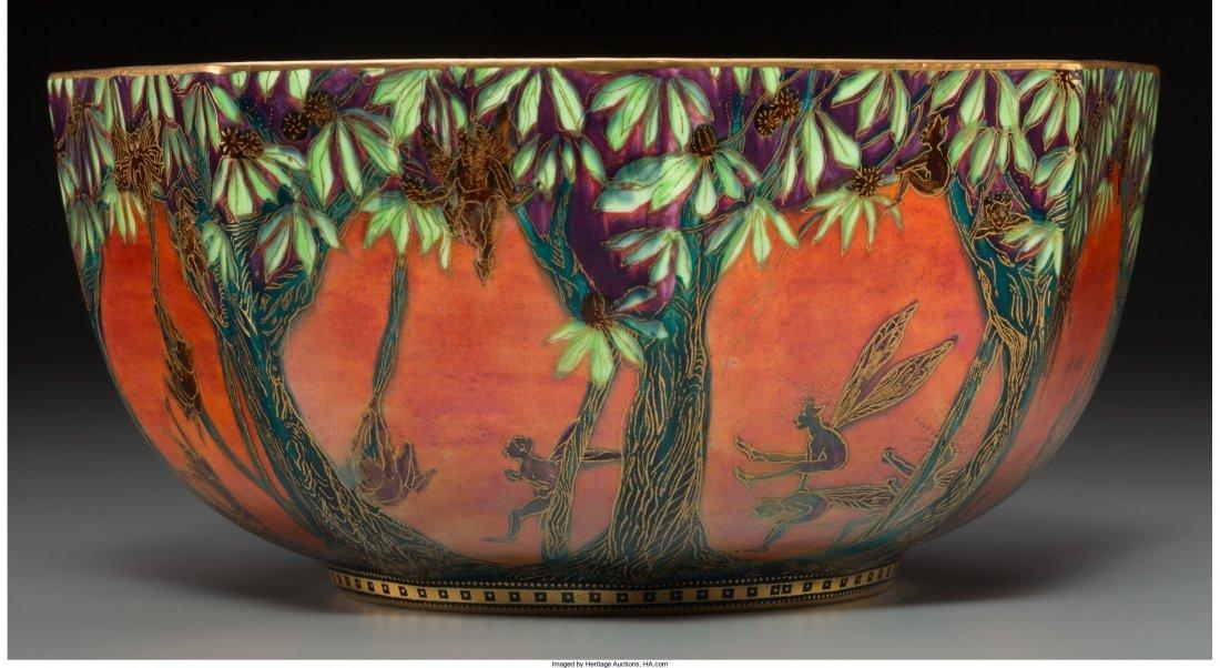 63016: Wedgwood Fairyland Lustre Porcelain Leapfrogging