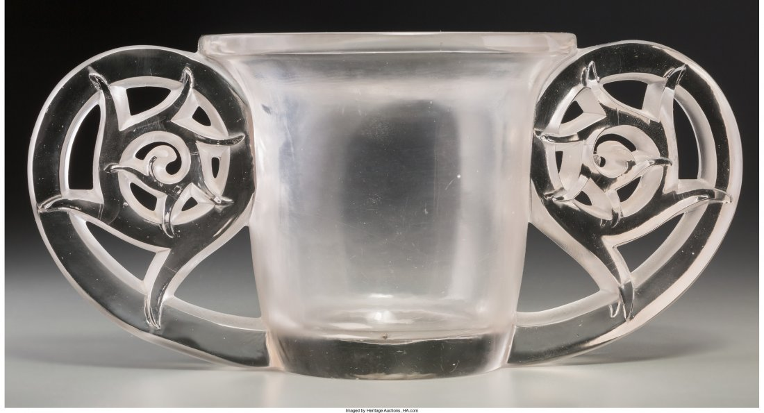 63171: R. Lalique Clear and Frosted Glass Pierrefonds V