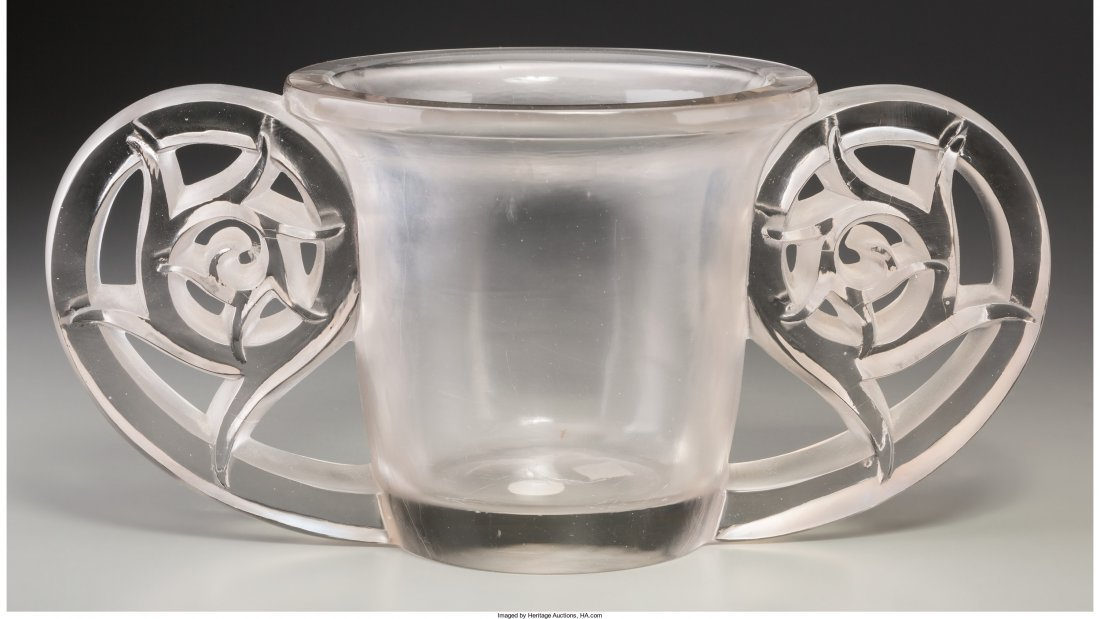 63171: R. Lalique Clear and Frosted Glass Pierrefonds V - 2