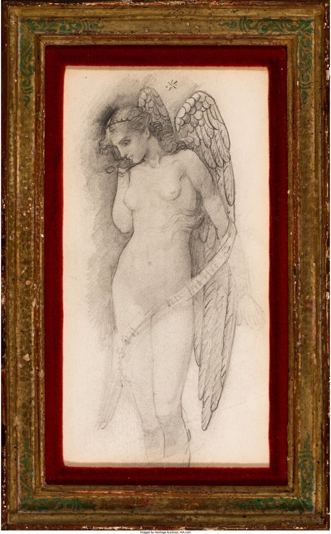 63023: Edward Burne-Jones (British, 1833-1898) Angel Pe - 2