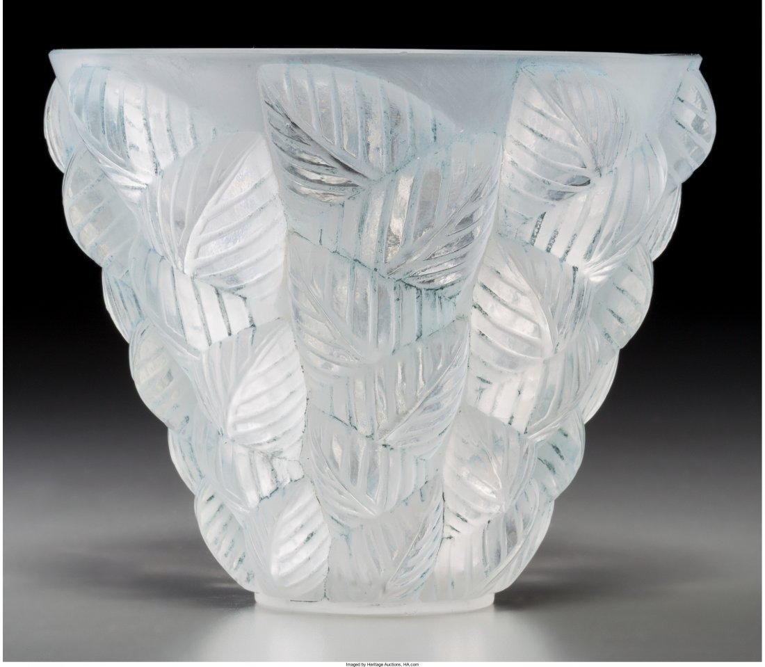 63182: R. Lalique Clear and Frosted Glass Moissac Vase  - 2