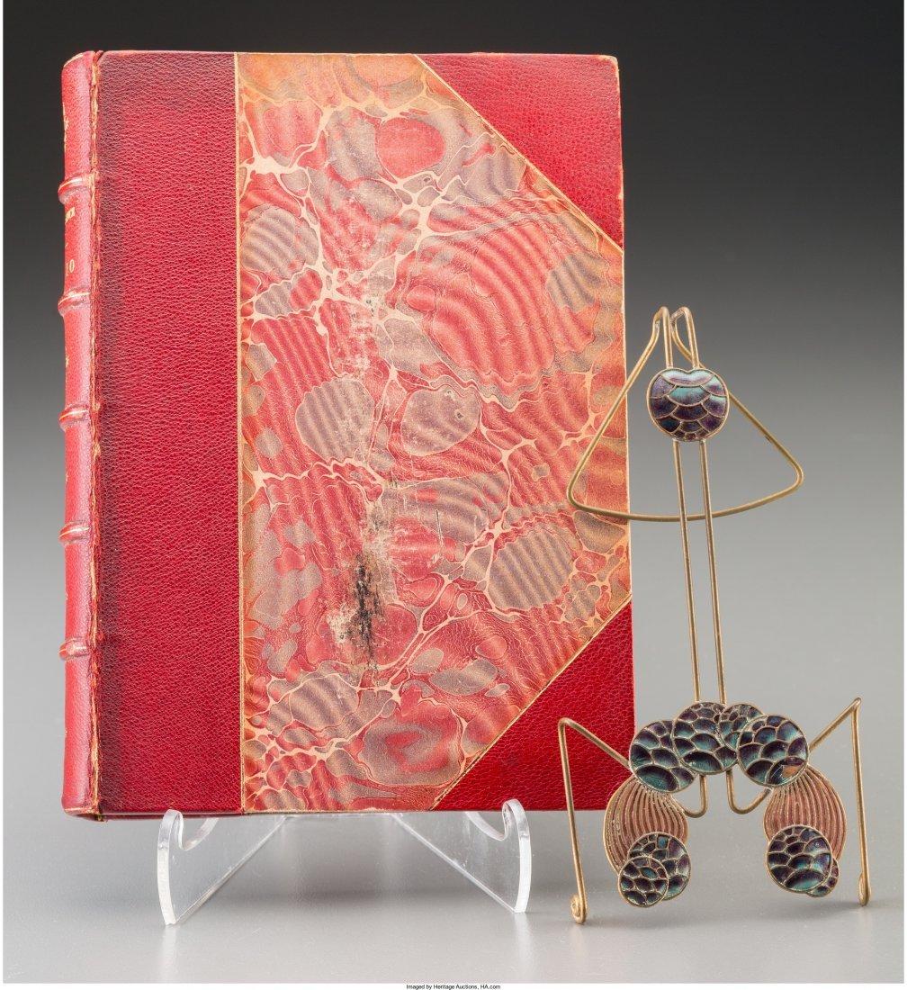 63042: Art Nouveau Enameled Bookmark and Clio with Illu
