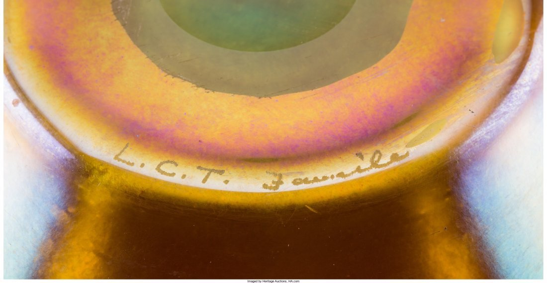63318: Tiffany Studios Gold Favrile Glass Bowl and Unde - 3
