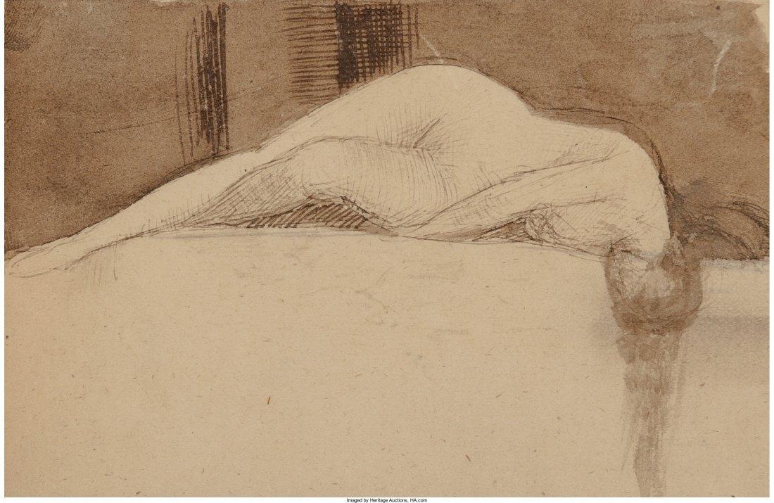 63045: John Everett Millais (British, 1829-1896) Reclin