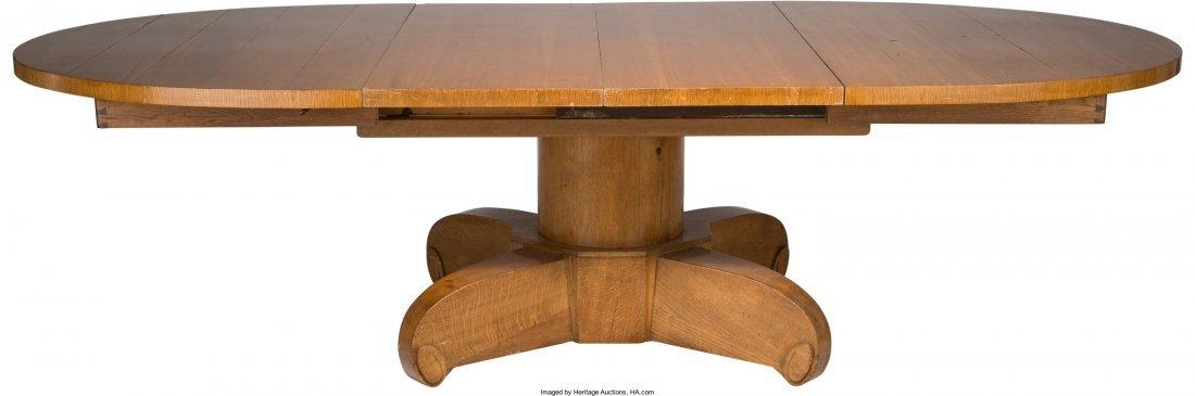63206: Emile-Jacques Ruhlmann Art Deco Carved Oak Oval