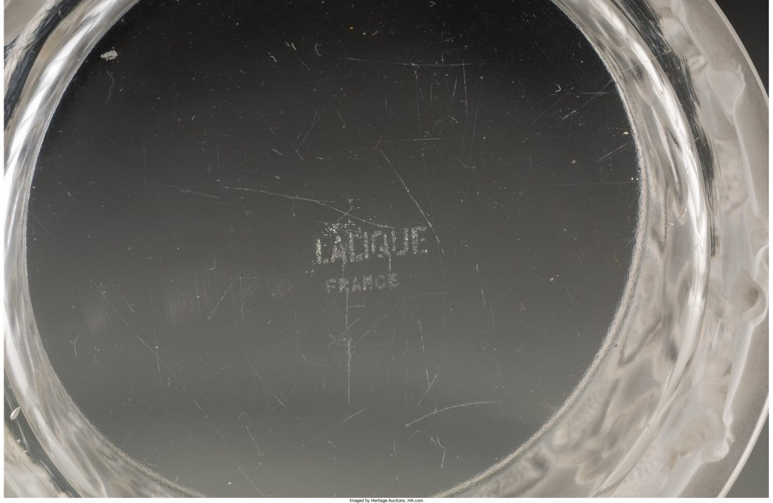 63413: Four Lalique Clear and Frosted Glass Vanity Item - 3
