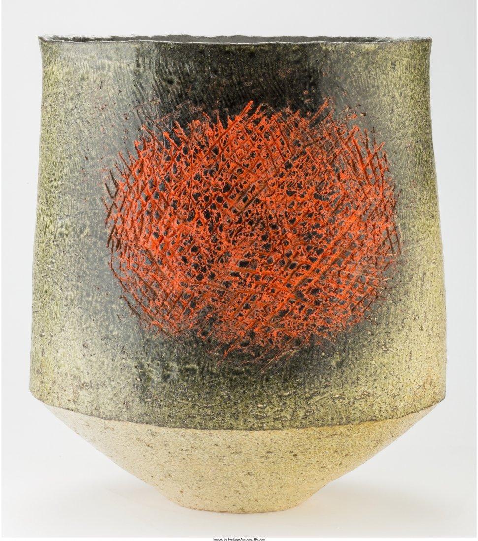 63442: Japanese Glazed Earthenware Vase Circa 1960. Imp - 2