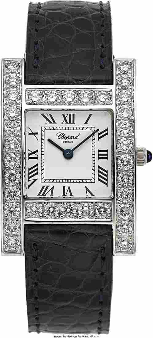 """Chopard """"Your Hour"""" 18K White Gold & Diamond Lad"""