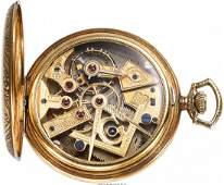 54214: Dudley Model No. 1 Gold Masonic Pocket Watch, ci