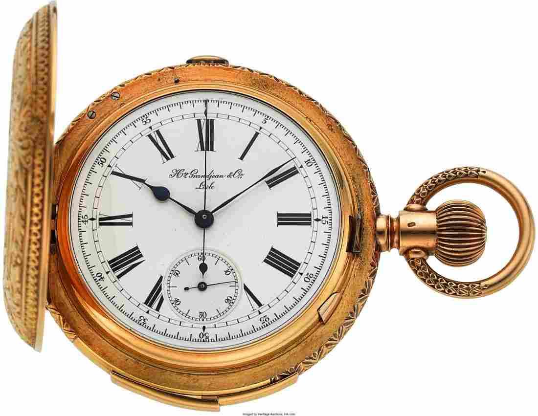 54298: Hy. Grandjean & Cie., LeCoultre Minute Repeater