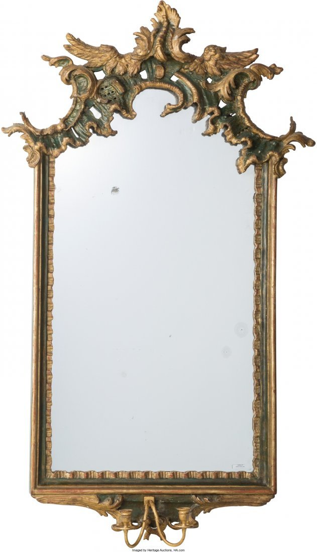 61002: A Louis XV Painted and Partial Gilt Framed Giran