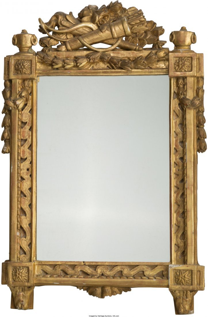 61008: A Louis XVI Giltwood Hall Mirror, late 18th cent