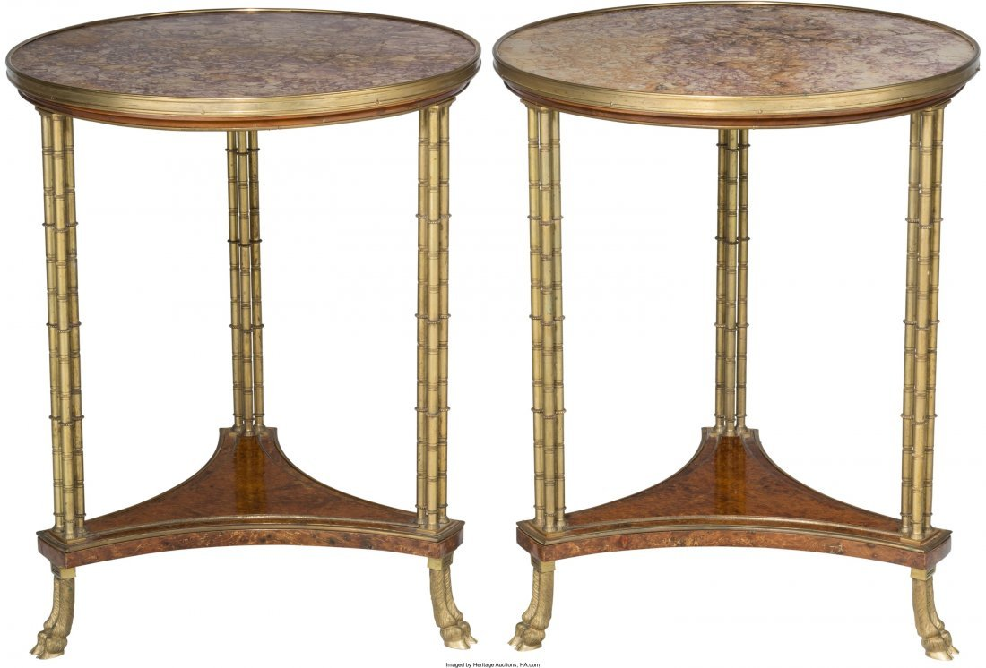 61015: A Pair of Louis XVI-Style Gilt Bronze Mounted an